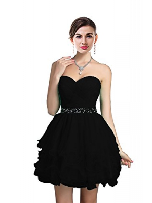 ThaliaDress Sweetheart Rhinestone Short Party Homecoming Dresses Prom Gowns T021LF