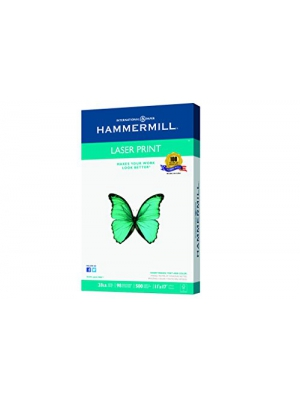 Hammermill Paper, Laser Print, 28lb, 11 x 17, Ledger, 98 Bright, 500 Sheets/1 Ream, (125526), Made In Then USA
