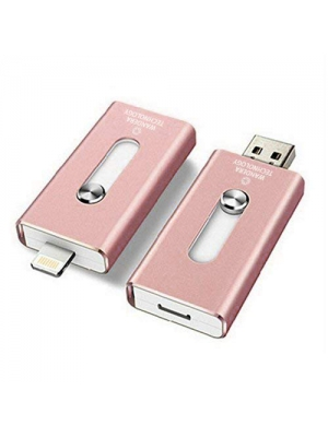 128GB iPhone USB Flash Drive, iOS Memory Stick, iPad External Storage Expansion for iOS Android PC Laptops (Pink 128GB (Y-Disk))
