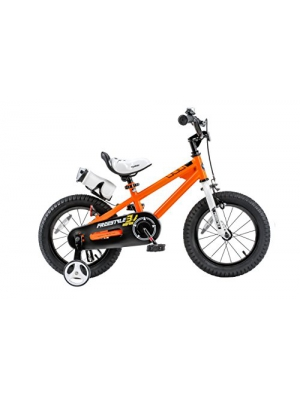 RoyalBaby BMX Freestyle Kids Bike, Boy's Bikes and Girl's Bikes with training wheels, Gifts for children, 16 inch wheels, Orange