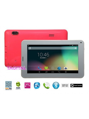 "Tagital 7"" Quad Core Android 4.4 KitKat Phone Tablet Phablet, Bluetooth, Dual Camera, Play Store Pre-installed, 2015 Newest Model Pink"