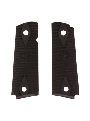 Hogue 45010 Colt Government Rubber Grip Panels, black, Checkered with Diamonds