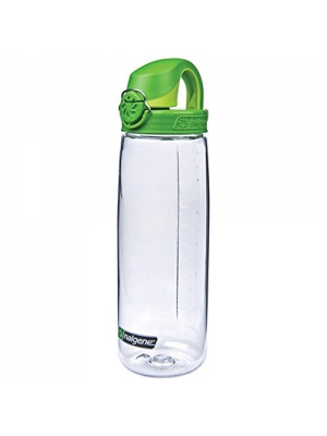 Nalgene Tritan On The Fly Water Bottle, Clear/Green, 24Oz