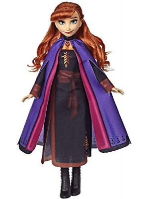 Disney Frozen Anna Fashion Doll with Long Red Hair & Outfit Inspired by Frozen 2 - Toy for Kids 3 Years Old & Up, Brown/A