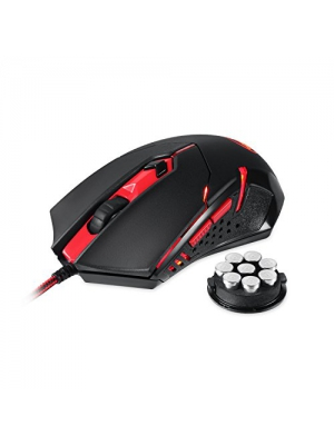 Redragon M601 Gaming Mouse, Ergonomic Wired MMO 6 Button Mouse, 3200 DPI, Red LED Backlit for Windows PC Gamer (Black Wired Mouse)
