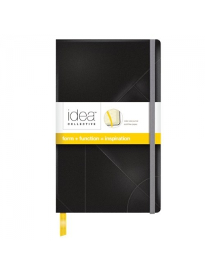 TOPS Idea Collective Journal, Black Cover, Wide Rule, Cream Paper, 8.25 x 5 Inches, 240 Pages (56872)