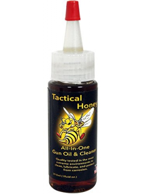 Gun Oil - Tactical Honey Gun Oil (1 oz.) - 2-in-1 Gun Oil and Cleaner - Quality Tested to Protect Against Extreme Elements - Catches Dirt Other Oils Often Miss - Prevents Corrosion