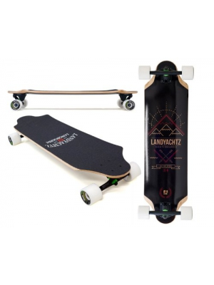 "2013 Landyachtz Top Speed 34"" Complete with Grizzly 852 Trucks, Bear Bearings & 70mm Mini Monsters"