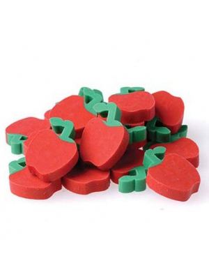 "US Toy - Miniature 3/4"" Apple Erasers, Ages 3 Years & Up (1-Pack of 144)"