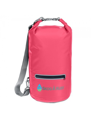 DrySak Waterproof Dry Bag with Exterior Zip Pocket, Shoulder Strap and Reflective Trim, For Watersports & Outdoor Activities