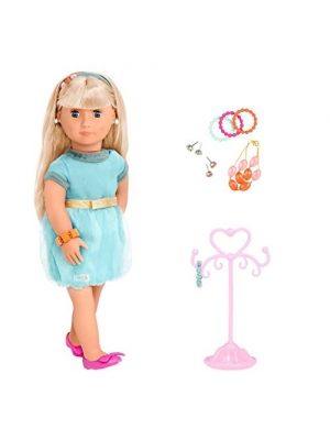 "Adreena Our Generation ""A True Gem"" 18"" Jewelry Doll with pierced ears and Accessories"