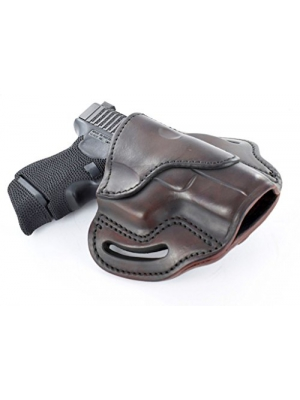 1791 Gunleather Glock 19 Holster - Right Hand OWB G19 Leather Holster for Belts - Fits Glock 19, 23, 26, 27, H&K VP40 and Springfield XDS -