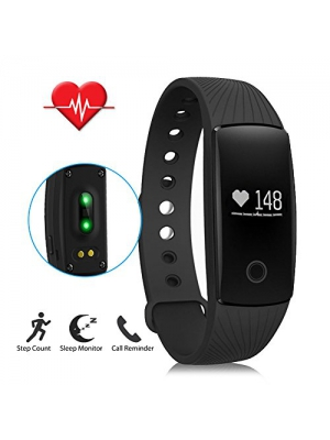 LENDOO ID107 Heart Rate Monitor, Bluetooth 4.0 Smart Bracelet Activity Fitness Tracker Sleep Monitor HR Wristband for Android & IOS Smart Phones