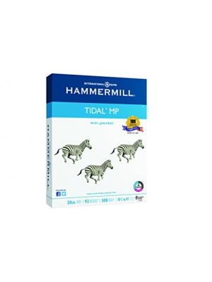 Hammermill Paper, Tidal MP, 20lb, 8.5 x 11, Letter, 92 Bright, 500 Sheets/1 Ream (162008), Made In The USA