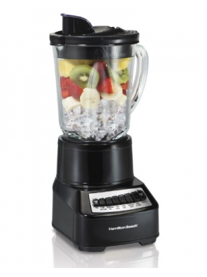 Hamilton Beach Wave Crusher Multi-Function Blender with 14 Speeds & 40 oz Glass Jar, Black (54220)