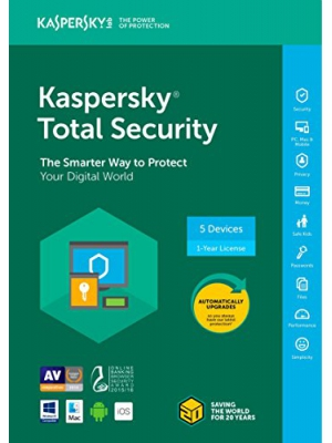 Kaspersky Total Security 2018 | 5 Device | 1 Year [Key Code]