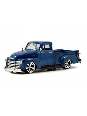 1953 Chevy Pickup Truck, Blue - Jada Toys Bigtime Kustoms 50117 - 1/24 scale Diecast Model Toy Car (Brand New, but NO BOX)