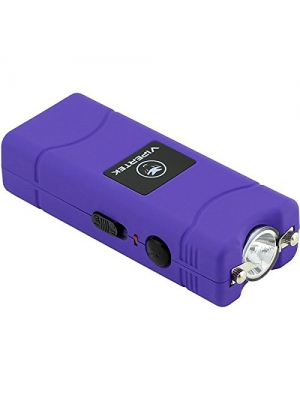VIPERTEK VTS-881 - 430,000,000 Micro Stun Gun - Rechargeable with LED Flashlight, Purple