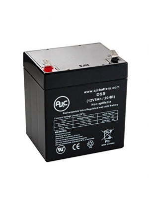 Tempest TR4-12 12V 5Ah Sealed Lead Acid Battery - This is an AJC Brand Replacement