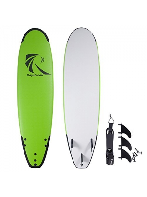 RAYSTREAK Surfboards/Soft Top Surfboard/7'2'' Surf Board Fun Performance Foam Surf Boards/Do For More Makes Your Happy