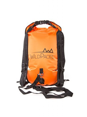 WildPaces Multi Use 28L Sport Backpack Swim Buoy Tow Float Dry Bag by High Visibility Inflatable for Wild and Open Water Swimming SwimRun Kayaking Fishing Snorkelling Diving Adjustable Waist Belt