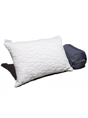 "Camping and Travel Pillow with Bamboo Derived Viscose Rayon Cover - Adjustable- Compressible - Includes Stuff Sack Great for Backpacking and airplane or car Travel 19"" x 14"" - Memory Foam-"