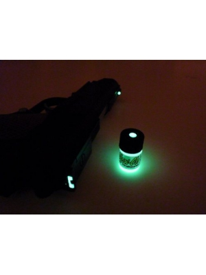 GLOW-ON GREEN COLOR, Super phosphorescent Gun Sights Paint. Small 2.3 ml vial. Green day color/Green Glow