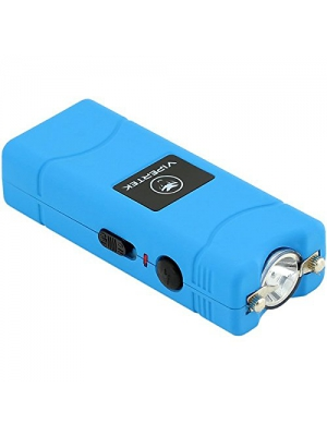 VIPERTEK VTS-881 - 430,000,000 Micro Stun Gun - Rechargeable with LED Flashlight, Blue