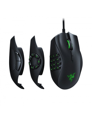 Razer Naga Trinity Gaming Mouse - [16,000 DPI Optical Sensor][Chroma RGB Lighting][Interchangeable Side Plate w/ 2, 7, 12 Button Configurations][Mechanical Switches]