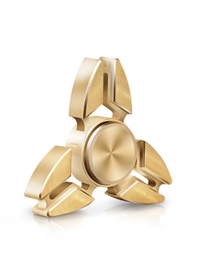 Atill Hand Spinner, High Speed Spinner Fidget Toys with Stainless Steel Bearing for ADHD, Anxiety, Autism, Stressed Adults and Children (Brass Golden)