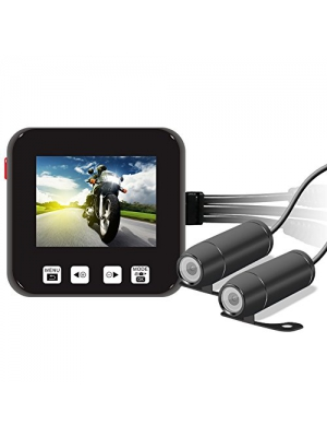 "Biker's Camera, Sykik Rider SRBCS66 Motorcycle Action Camera, Sport camera w/ DVR. Full 720p front and back cameras, 2"" LCD monitor with PIP, 10 second Pre-recording, wired control"