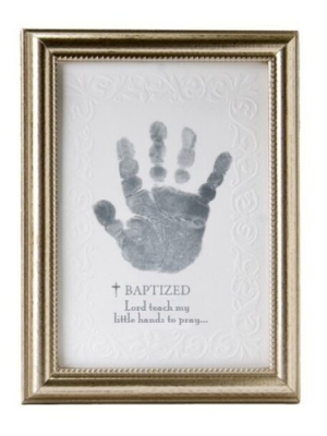 The Grandparent Gift Co. Photo Frame, Baptism Handprint
