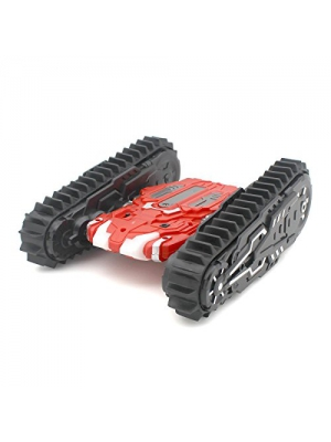 Sided armored off-road crawler All-terrain four-wheel drive high-speed remote control toy car with lights,Red