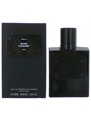 ELEGANT BLACK POUR HOMME BY JOHAN B COLOGNE FOR MEN 3.4 OZ/100 ML EAU DE TOILETTE SPRAY