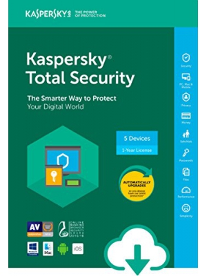 Kaspersky Total Security 2018 | 5 Device | 1 Year [Download]