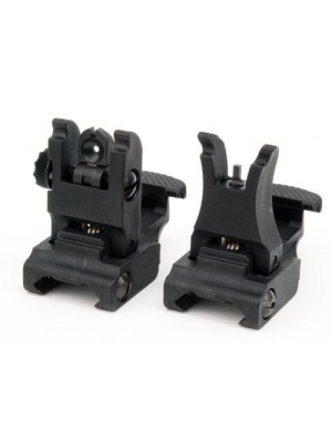 Front and Rear Sight for AR-15 M16 Flat Top Rifles Low Profile Flip-Up Sight Set