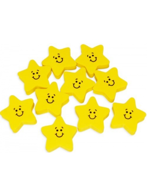 Fun Express Smile Face Star Erasers (2 Dozen)