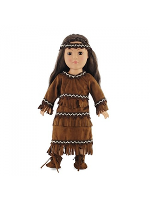 "18 Inch Doll Clothes/clothing Fits American Girl – Native American Outfit Fits Kaya 18"" Dolls Plus Accessories"