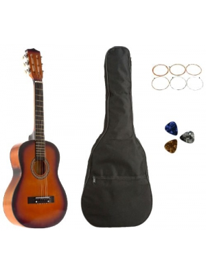 Star Kids Acoustic Toy Guitar 31 Inches Sunburst with Bag, Strings & Picks, CG5126-BSP-SB
