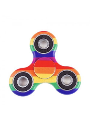 Fidget Spinner PRIME (MANY COLORS AND DESIGNS) Toy Stress Reducer Bearing - Perfect For ADD, ADHD, Anxiety, and Autism Adult Children (Rainbow)