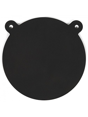 "Powerfly AR500 Gong Targets for Shooting Range 12"" - AR 500 3/8"" Laser Cut Steel Plate - Metal Round Swing Hanging Target with Mounting Holes - Suitable for Rifle Handgun Pistol Firearms"