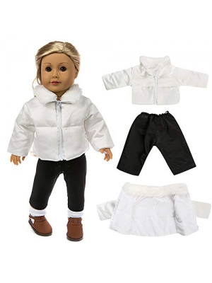 Gbell Clearance! 18 Inch Doll Outfits Winter Sweater Outfits for 18 inch American Girl Our Generation Doll Clothes Down Jacket Accessories (Down Jacket)