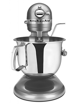 KitchenAid Professional 6000 HD KSM6573CCU Stand Mixer, 6 Quart, Contour Silver