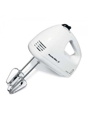 Proctor Silex 62509RY 5-Speed Hand Mixer, White