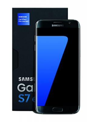 "Samsung Galaxy S7 Edge Certified Pre-Owned Factory Unlocked Phone - 5.5"" Screen - 32GB - Titanium (1 Year Samsung U.S. Warranty)"