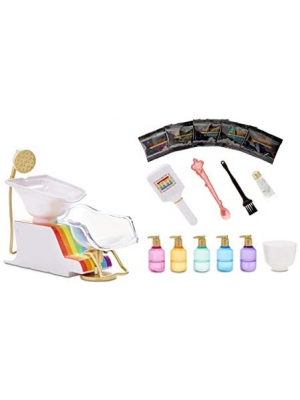Rainbow High Salon Playset with Rainbow of DIY Washable Hair Color Foam for Kids and Dolls - Doll Not Included