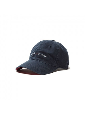 Tommy Hilfiger Original Signature Classic Cap Baseball Hat (Core Navy Blue)