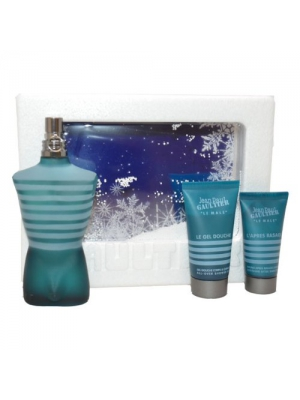 Le Male Men Eau-de-toilette Spray, All Over Shower Gel, Soothing After Shave Balm by Jean Paul Gaultier