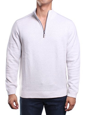 Tommy Bahama Mens Reversible 1/4 Zip Pullover Sweater