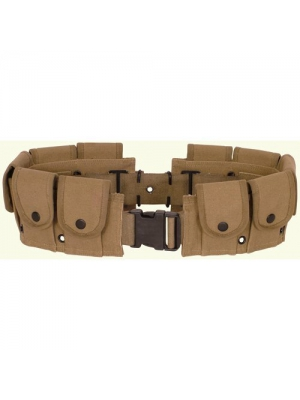 Ultimate Arms Gear Tactical Khaki Tan, Utility Pouch, Cartridge Ammo Tool, Heavy Duty Cotton Canvas Belt